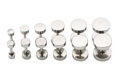SILVER ROUND STAINLESS STEEL SCREW STUDS
