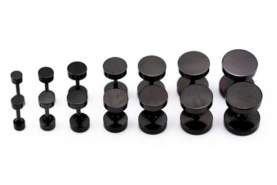BLACK ROUND STAINLESS STEEL SCREW STUDS