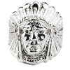 NATIVE AMERICAN INDIAN CHIEF RING IN 925 SILVER