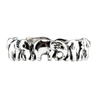 ELEPHANT RING IN 925 SILVER