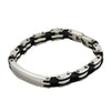 STAINLESS STEEL ENGRAVABLE ID BLANK SPACE BRACELET