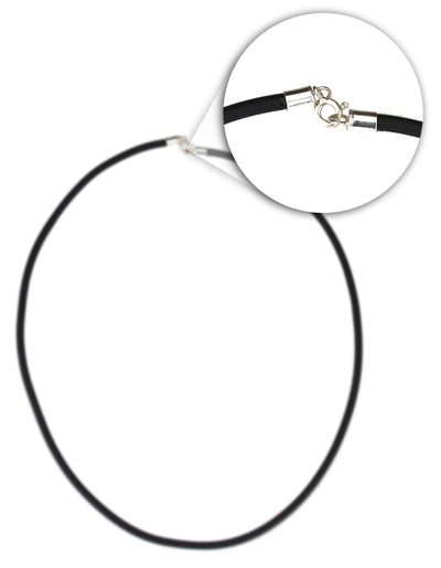BLACK RUBBER NECKLACE (3mm Thickness)