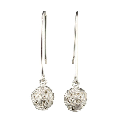 TANGLY 925 SILVER DANGLE MATT EARRINGS