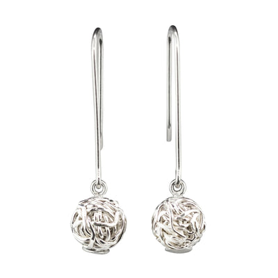 TANGLY 925 SILVER POLISHED DANGLE EARRINGS