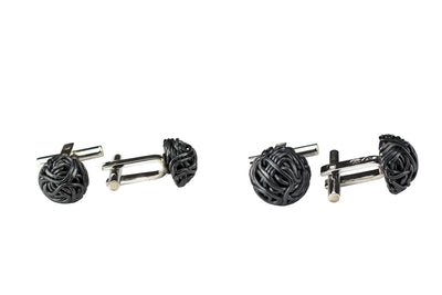 TANGLY 925 SILVER OXIDISED CUFFLINKS