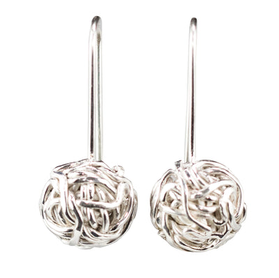 TANGLY 925 SILVER POLISHED HALF EARRINGS