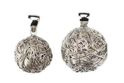 POLISHED 925 SILVER PENDANT, TANGLY COLLECTION