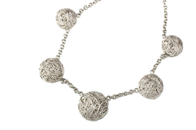 LIMITED EDITION MATT 925 SILVER NECKLACE, TANGLY COLLECTION