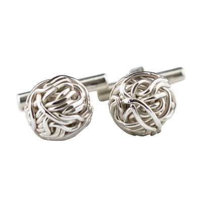 925 SILVER CUFFLINKS, TANGLY COLLECTION