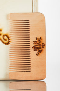 engraved beard comb
