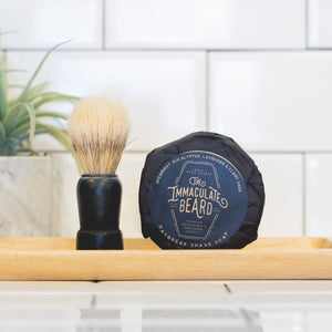 Dark Shave Soap Puck - The Immaculate Beard