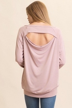 Load image into Gallery viewer, Comfy Cutout Back Shirt