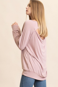 Comfy Cutout Back Shirt