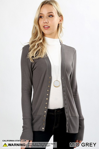 Snap Front Cardi