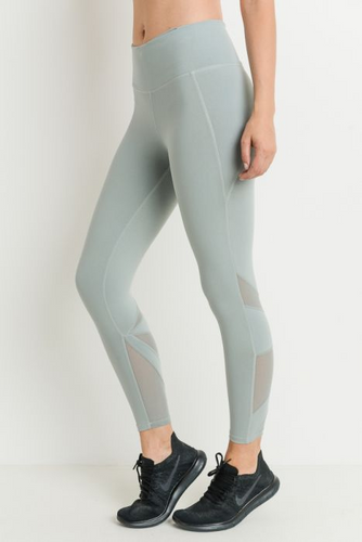 Star mesh capri leggings