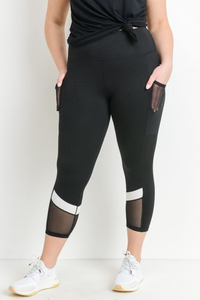 Curvy mesh slit leggings