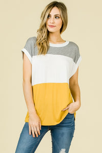 Color Block Short Sleeve Tunic