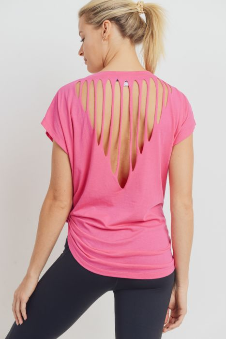 Webbed Cutout Back Shirt