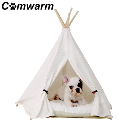 White Pet Teepee for Cats and Dogs