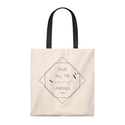 Save All The Animals Vintage Tote Bag