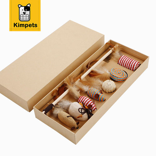 Natural Cat Jumping Toy Set