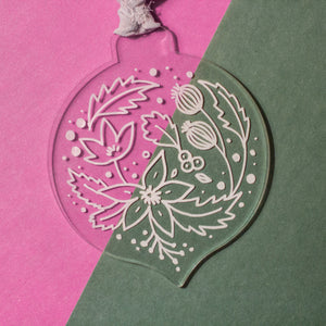 Holiday Flowers Ornament