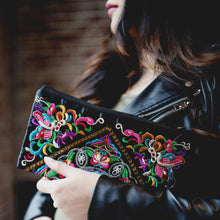 Embroidered Black Handbag