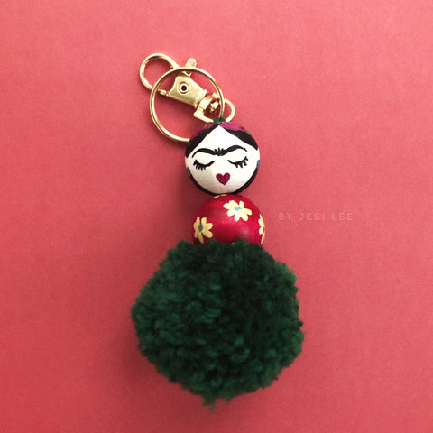 Forest Green Pom Friducha Charm