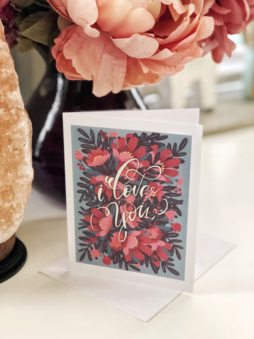 I Love You, Greeting Card