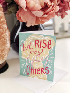 We Rise, Greeting Card