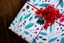 Blue Bloom Gift Wrap