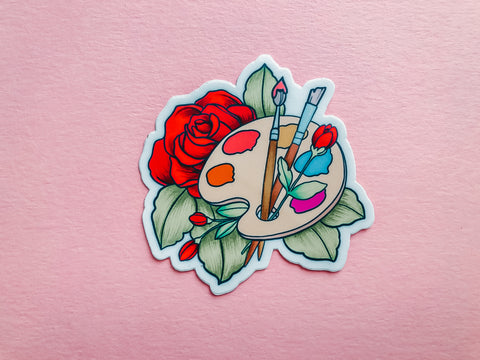 Flowers & Paint, Sticker