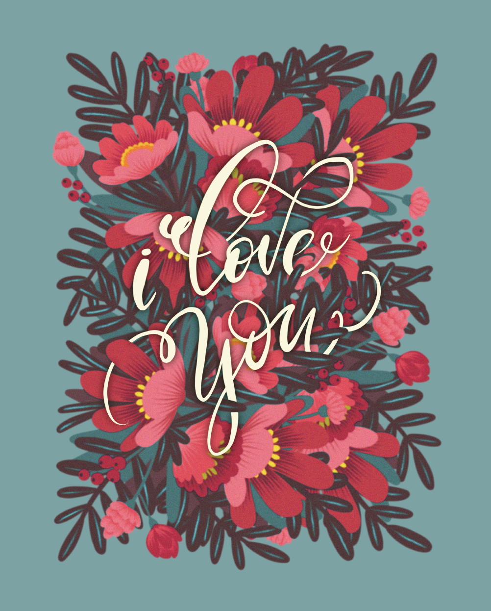 I love you, Giclee Print