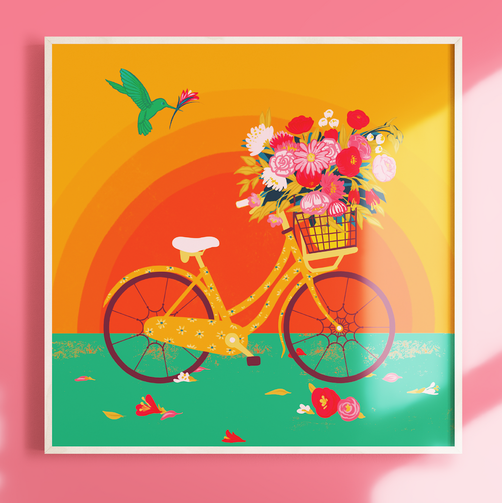 Sunshine & Bicycles, Giclee Print