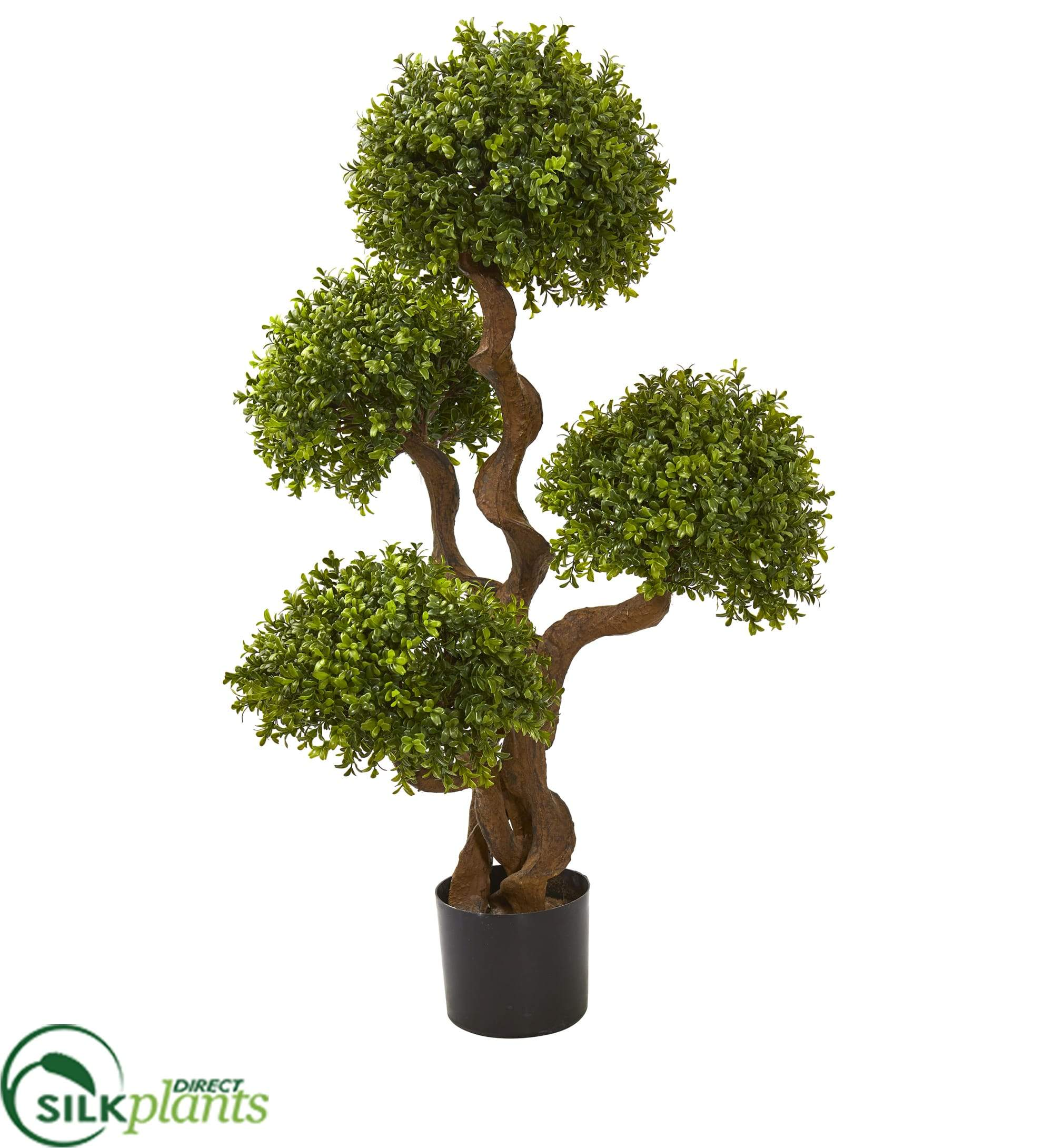 Silk Plants Direct Four Ball Boxwood Artificial Topiary Tree Pack Of