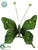 Silk Plants Direct Velvet Butterfly - Emerald - Pack of 36