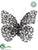 Silk Plants Direct Rhinestone Butterfly - Bronze - Pack of 12