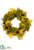 Sunflower, Peony, Pumpkin , Berry Wreath - Mustard Green - Pack of 1