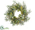 Silk Plants Direct Olive, Forsythia,  Eucalyptus Wreath - Yellow Green - Pack of 1