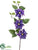 Clematis Spray - Purple - Pack of 12