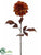 Tiger Print Dahlia Spray - Orange Brown - Pack of 12