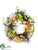 Hydrangea, Carrot, Bird's Nest Wreath - Green Orange - Pack of 2