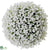 Baby's Breath Kissing Ball - White - Pack of 2