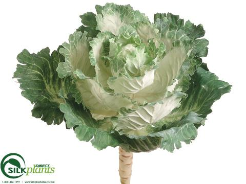 Artificial Ornamental Cabbage Faux Cabbage Fake Vegetables Silk Plants Direct
