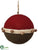 Knit Ball Ornament - Red Green - Pack of 6