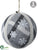 Snowflake Ball Ornament - Gray White - Pack of 6
