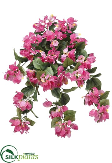 Silk Plants Direct Bougainvillea Hanging Bush Red Pack Of 6