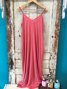 Strappy Maxi Dress with Pockets