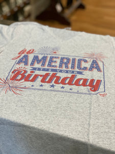 Go America, It's Your Birthday Vneck Tee