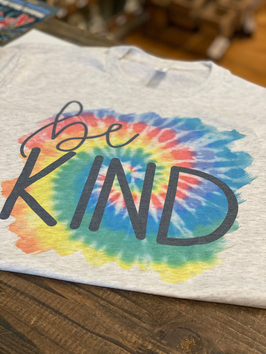 Be Kind Tye-Dye Sublimation Tee